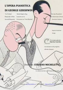 Locandina L'opera pianistica di George Gershwin